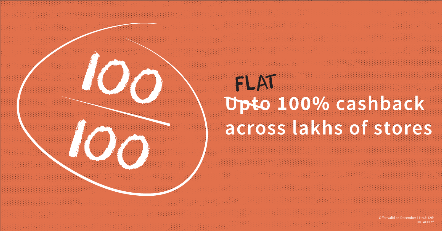 Freecharge : 100% Cashback on your transaction at Select Merchants