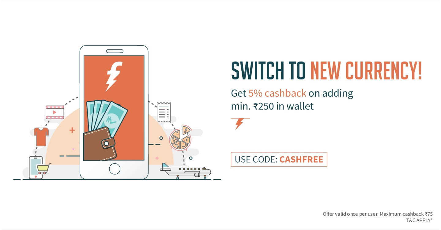 freecharge add money cashback offer